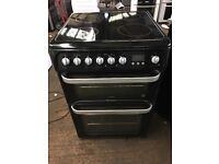 Hotpoint HUE61 60cm Double Electric Cooker in Black #3450