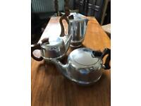 Picquot Ware teapots & coffee pot