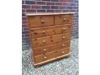 Solid pine chest of drawers. A
