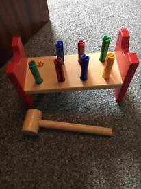 Hammer toy for baby's