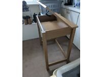Desk with storage compartment in excellent condition