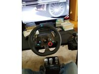 Logitech g29 steering wheel with gear stick shifter for ps4 pc driving controller