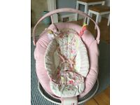Brightstarts Comfort & Harmony Pink Baby Bouncer