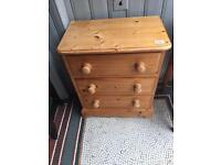 Solid Pine Chest of Drawers ( 2 available )