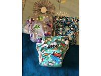 Milovia reusable cloth nappy bundle.