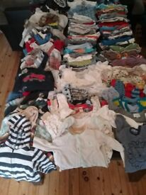 Large baby boys clothes bungle 3 to 6 months(155 items)