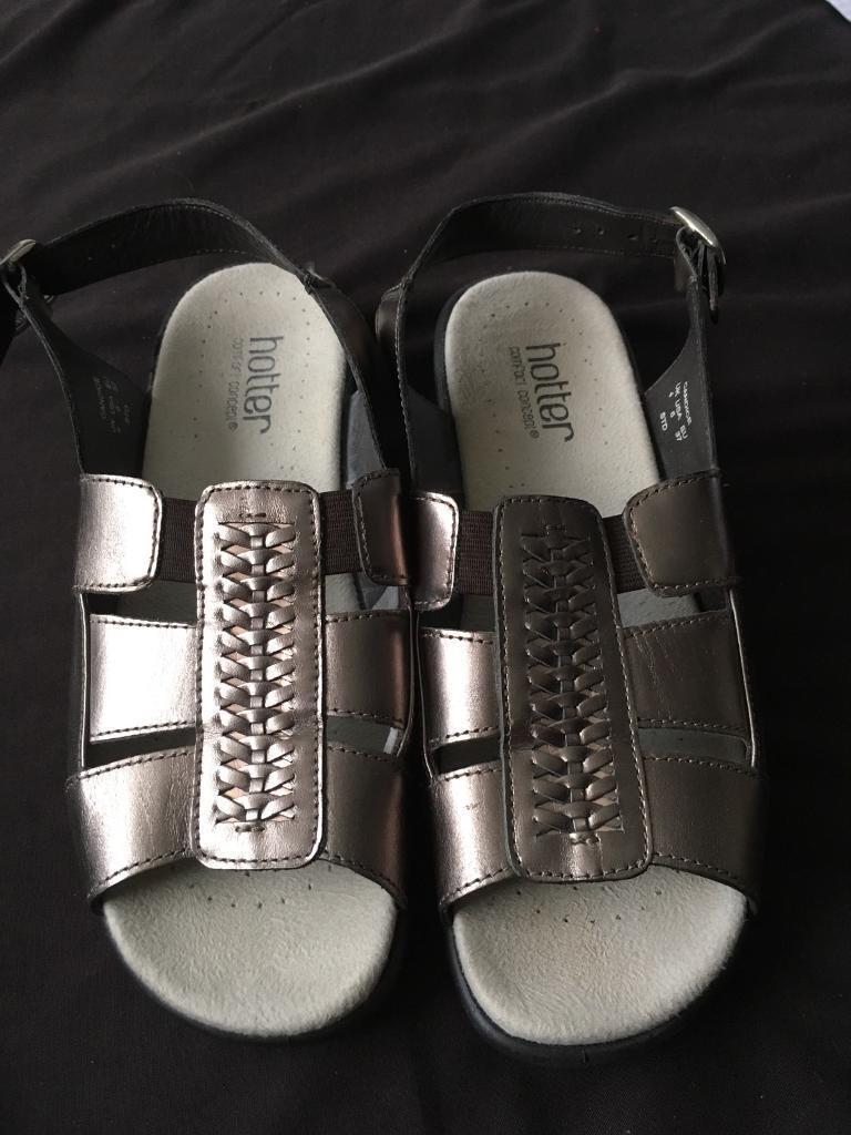 "Hotter ""Candice"" metallic gold sandals"