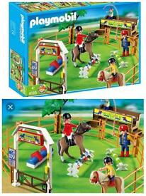 BOXED Animagic / playmobil pony horse stable play sets BOXED excellent condition! Can post