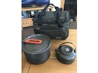 Fox large saucepan small kettle and bag for bait cooking equipment