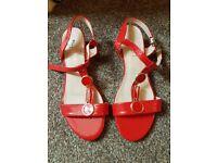 Brand NEW red women summer footwear