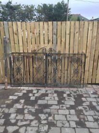 Wrought iron gates,