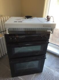 NEFF Double oven, extractor fan and induction hob for sale all in good working order