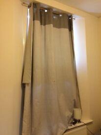 Curtains beige/stone colour