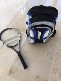 Tennis racquet & Rucksacks