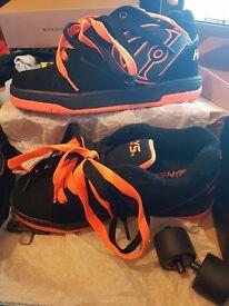 Heelys Propel 2.0 Size 3 Black/Orange as New Condition