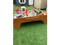 Early Learning Centre Wooden train set and table