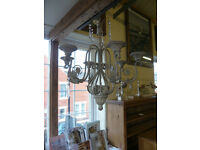 Brand new chandelier candleabra in a verdi gris finish. Was £215 now for quick sale £135.00