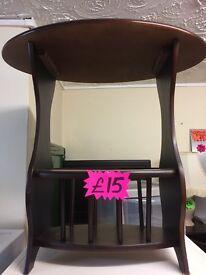 Mahogany table / magazine rack