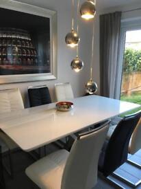 Arighi Bianchi 6 seater glass table - £450 o.n.o