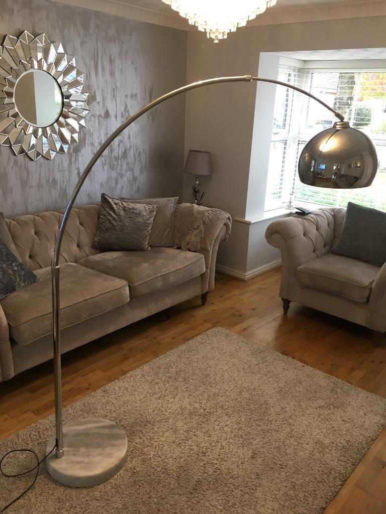 Chrome bow floor lamp in northampton northamptonshire gumtree chrome bow floor lamp aloadofball Images