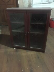 Mahogany glass door cabinets
