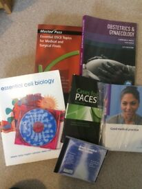 Medical textbooks - Cases for PACES, Essential Cell Biology, Impey Obs and Gynae, OSCE book, ALS+ILS