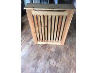 Solid oak radiator cover