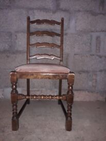 2 Antique chair ladder style back