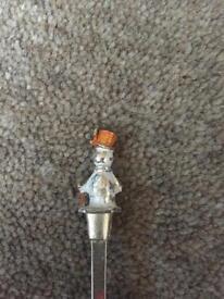 Silver snowman spoon