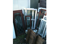 Window inserts (wood) with double glazed glass (these have misted)