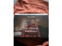 Brand new Four dvd box set Born Survivor Bear Grylls