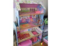 Dolls house toy for children wooden house