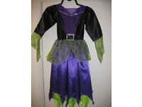 GET READY FOR HALLOWEEN - FABULOUS WITCH COSTUME (DRESS) age 7-8 - BEAUTIFUL - fully lined