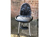 Black leather highchair