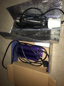 lumatek 400w dimmable grow light with euro shade and sunmaster bulb