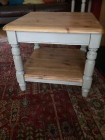 Ducal pine antique side/coffee table painted Annie Sloan