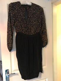 BNWT size 10 leopard and black dress M&S