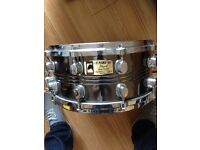 Mapex steel black panther snare drum