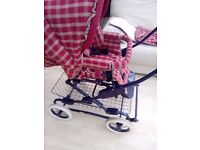 Mothercare carry cot xgeck ruat and cream pram
