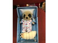 3 meerkat toys with certificates and boxed