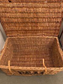 Large F&M wicker basket