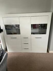 White gloss wayfair large sideboard