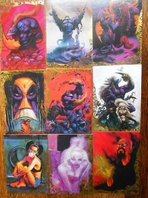 "1996  ""The Maxx"". 9 card Gold Foil Chase Insert Set from  Sam Kieth/Wildstorm"