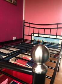 Double bed frame and optional mattress