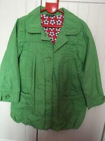 John Lewis green raincoat aged 5 years