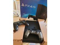 LATEST PS4 PRO 4K BOXED, 2 DUAL SHOCK CONTROLLERS, GAMES & EXTRAS