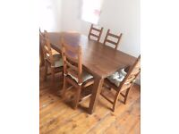 Dinning table and chairs, good condition, can deliver to you