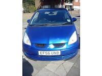 MITSUBISHI 1124cc COLT BLUE 3DOOR HATCHBACK 2007 MODEL WITH 76000 MILES.