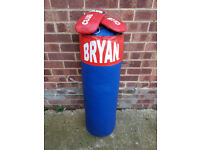 Bryan punch bag approx 3ft with mitts