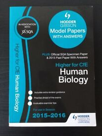 2015-2016 Higher Human Biology Past Papers